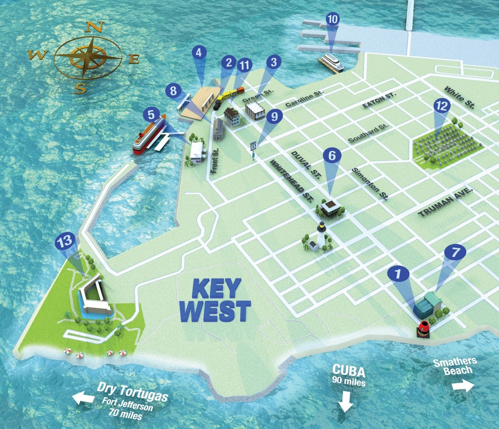 Map It Out | Key West Florida Weekly | Key West News - Map Of Duval Street Key West Florida