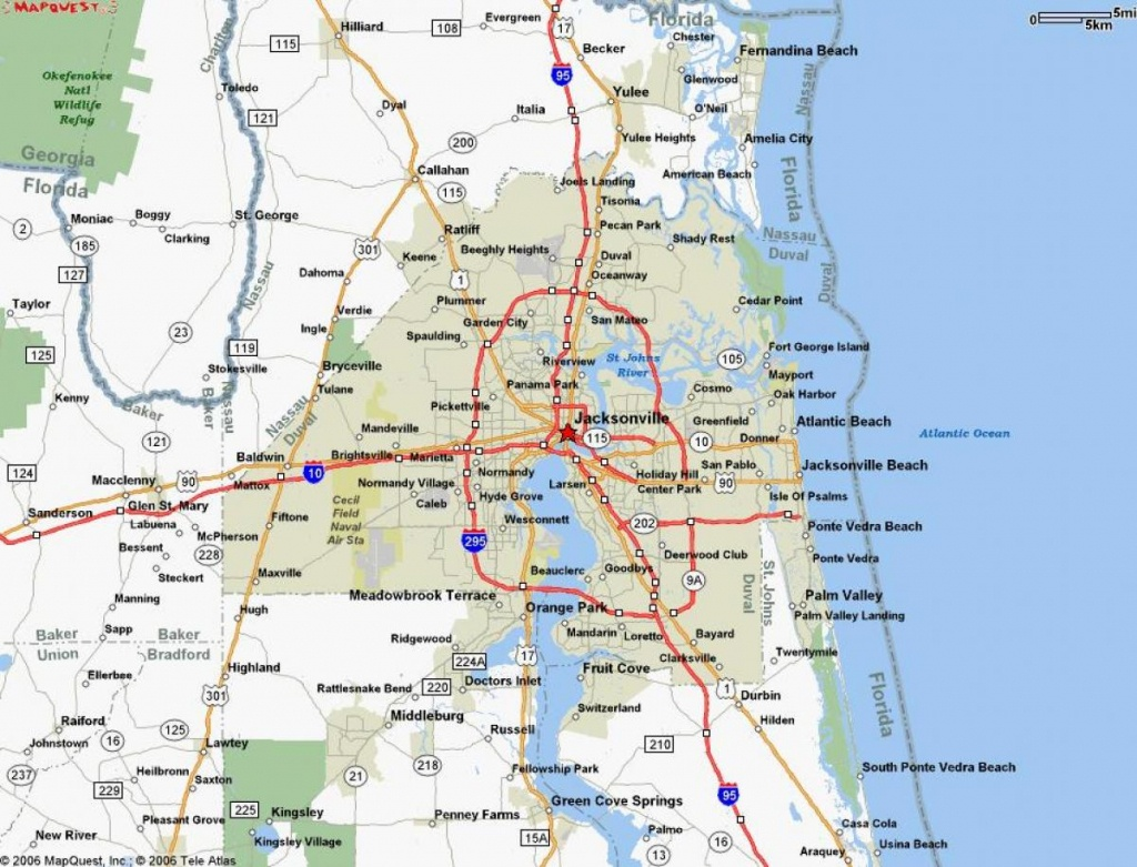 Map Jacksonville Fl - Jacksonville Florida On A Map (Florida - Usa) - Map To Jacksonville Florida