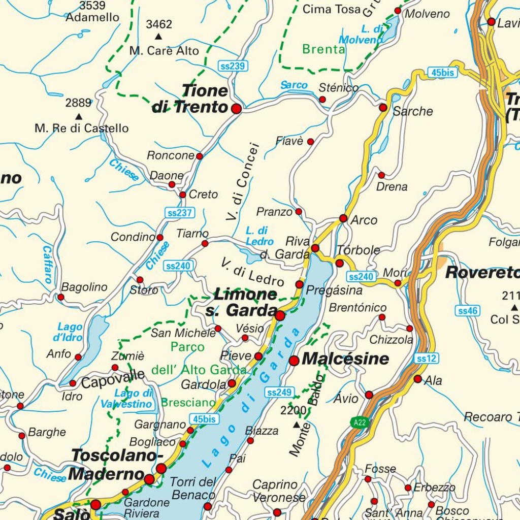 Map Lake Garda, Italy. Maps And Directions At Hot-Map. - Printable Map Of Lake Garda