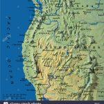 Map Maps Usa California Oregon Washington State Stock Photo: 3933899   California Oregon Washington Map