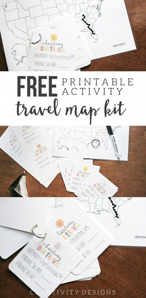 Map My Trip For Kids   Charting Travel With A Free Map Template - Road Trip Map Printable