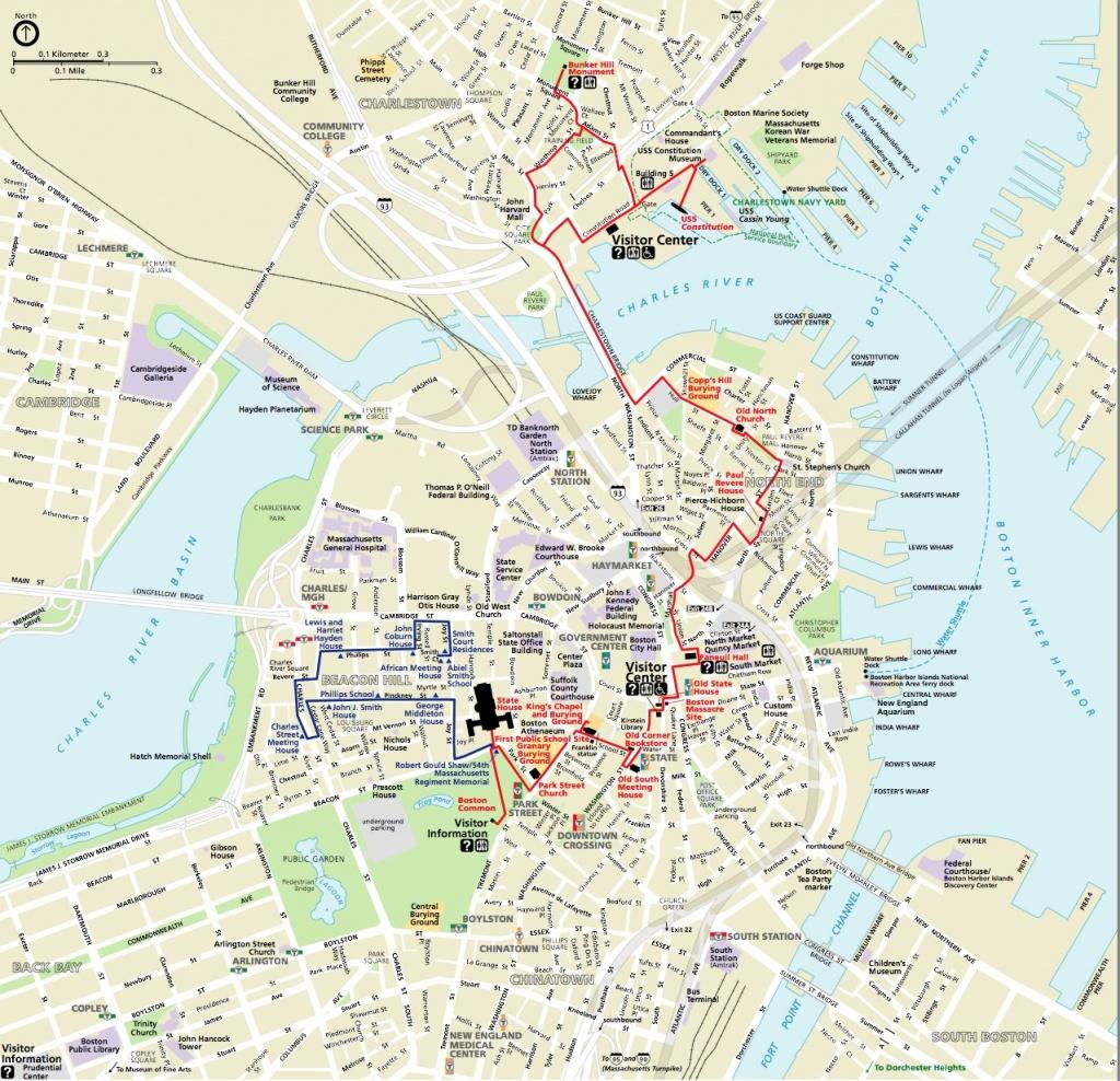 Map | Northendboston - Boston Tourist Map Printable