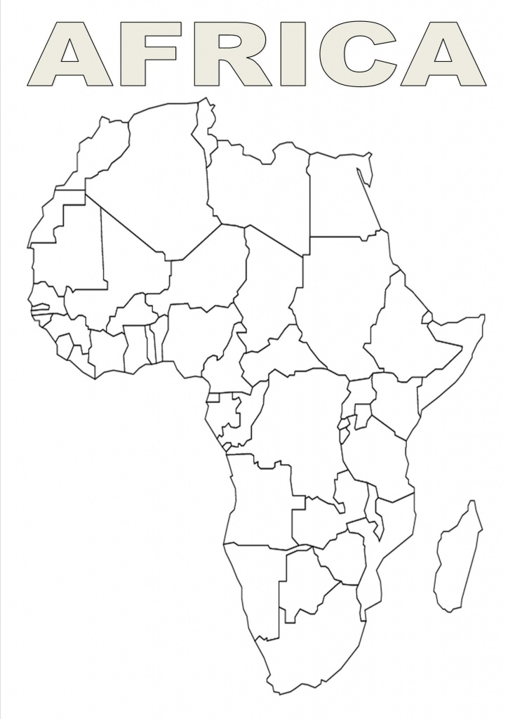 Map Of Africa Template   Silhouettes   Africa Outline, Map Outline - Free Printable Map Of Africa
