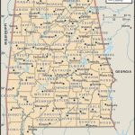 Map Of Alabama County Boundaries And County Seats. | Genealogy   Printable Map Of Alabama