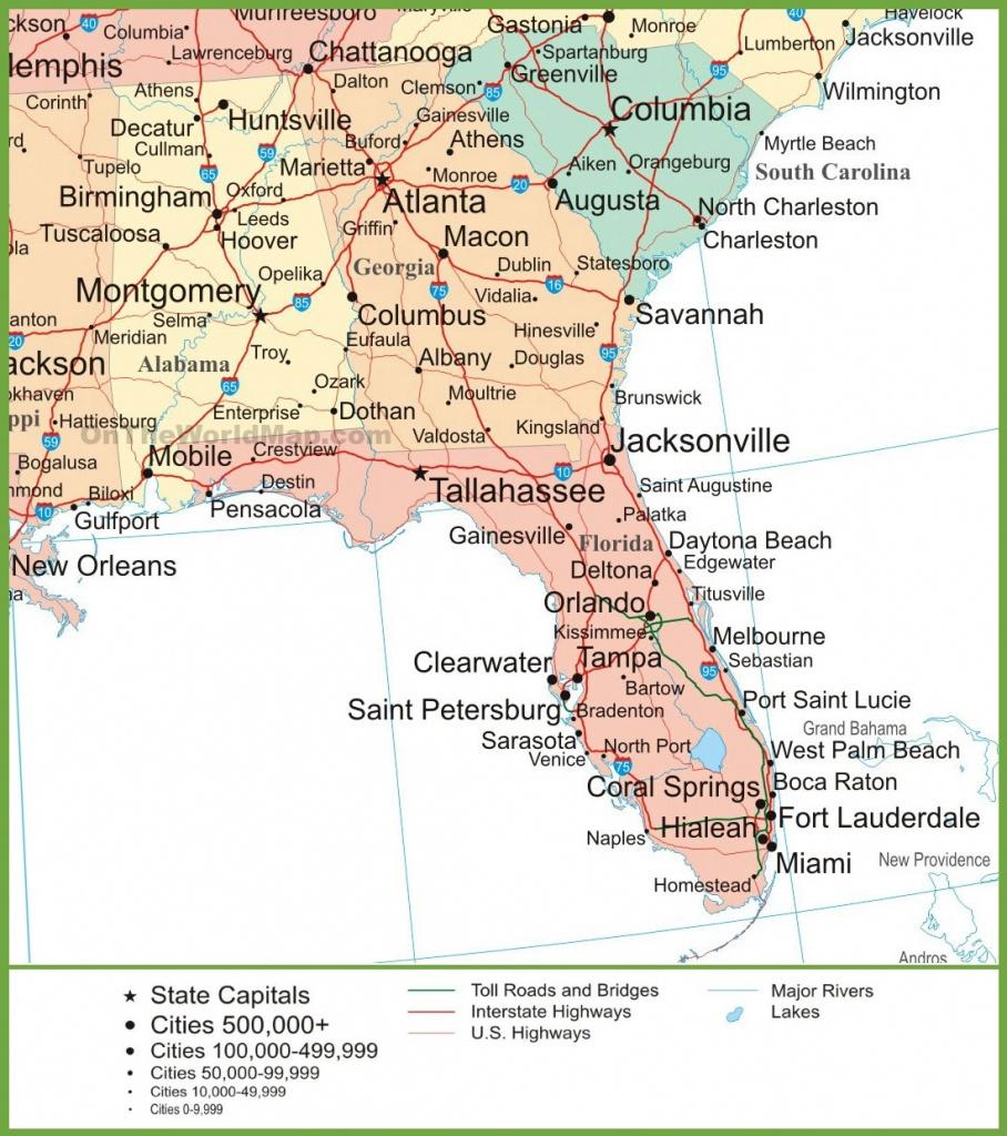 Map Of Alabama, Georgia And Florida - Map Of Alabama And Florida