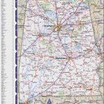 Map Of Alabama With Cities And Towns   Printable Map Of Alabama