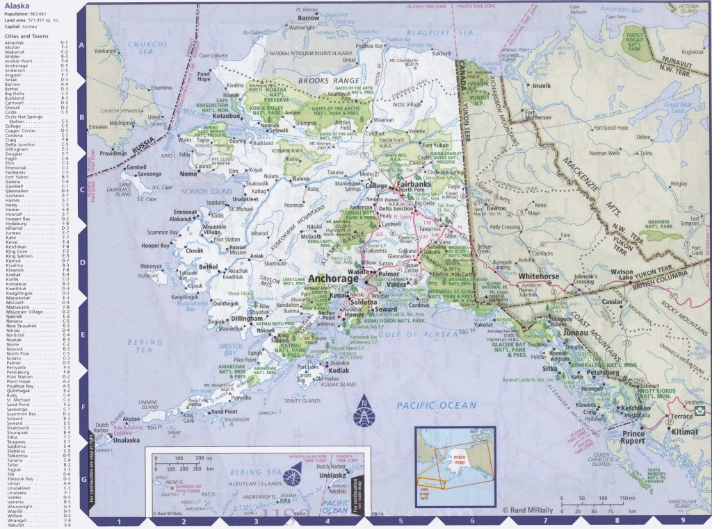Map Of Alaska With Cities And Towns - Printable Map Of Alaska With Cities And Towns