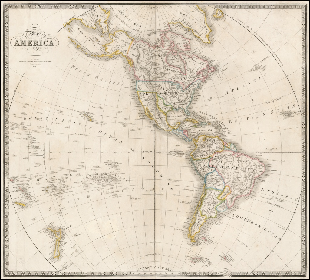 Map Of America . . . 1843 (Republic Of Texas Shown) - Barry Lawrence - Republic Of Texas Map 1845