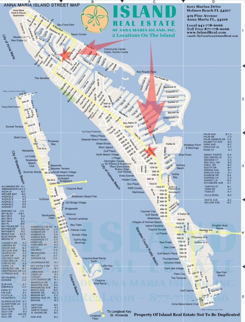 Map Of Anna Maria Island - Zoom In And Out.   Anna Maria Island In - Florida Public Beaches Map