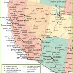 Map Of Arizona, California, Nevada And Utah   Map Of California And Nevada