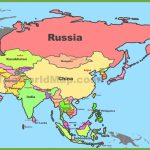 Map Of Asia With Countries And Capitals   World Map With Capitals Printable