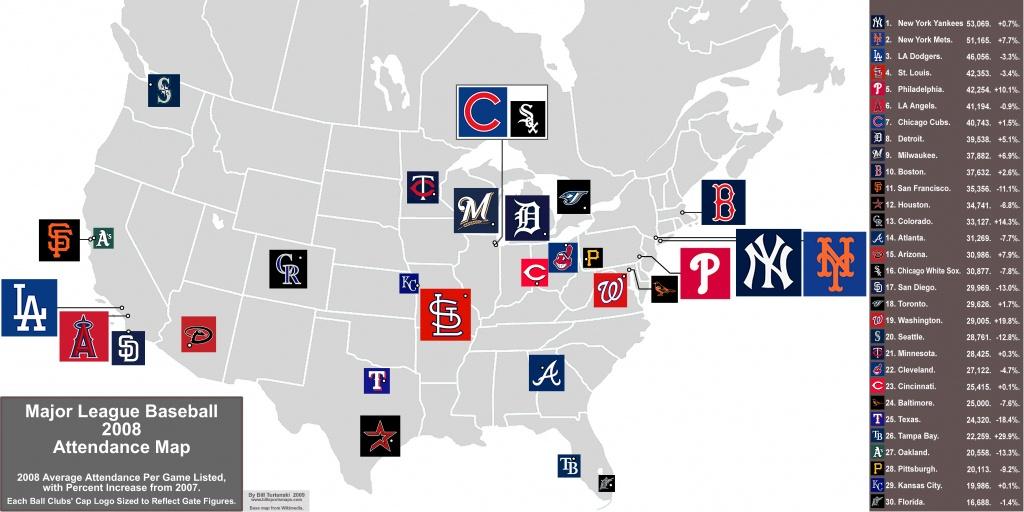 Map Of Baseball Teams In Usa - Capitalsource - California Baseball Teams Map