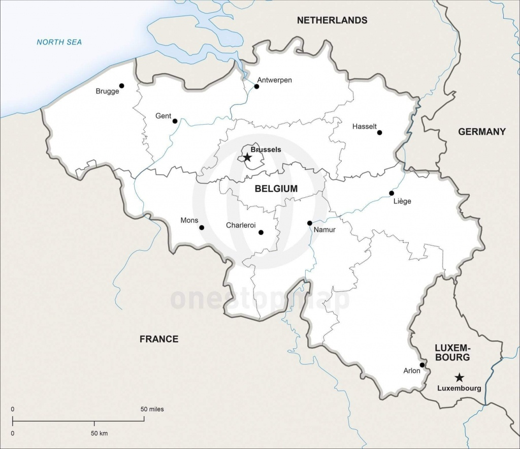 Map Of Belgium Political - Printable Map Of Belgium