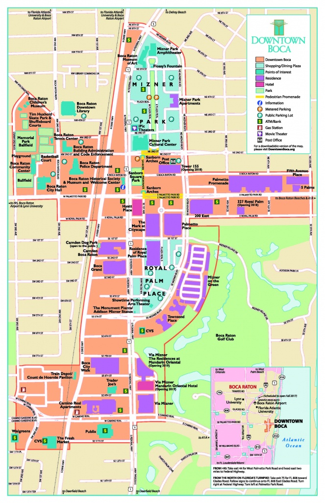 Map Of Boca Raton Area And Travel Information | Download Free Map Of - Boca Florida Map