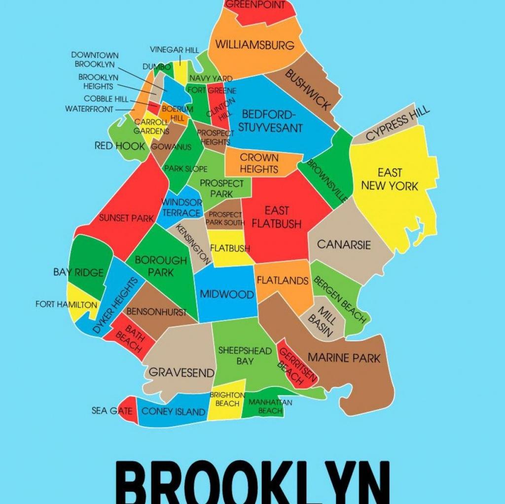 Map Of Brooklyn Ny - Brooklyn New York On Map (New York - Usa) - Printable Map Of Brooklyn