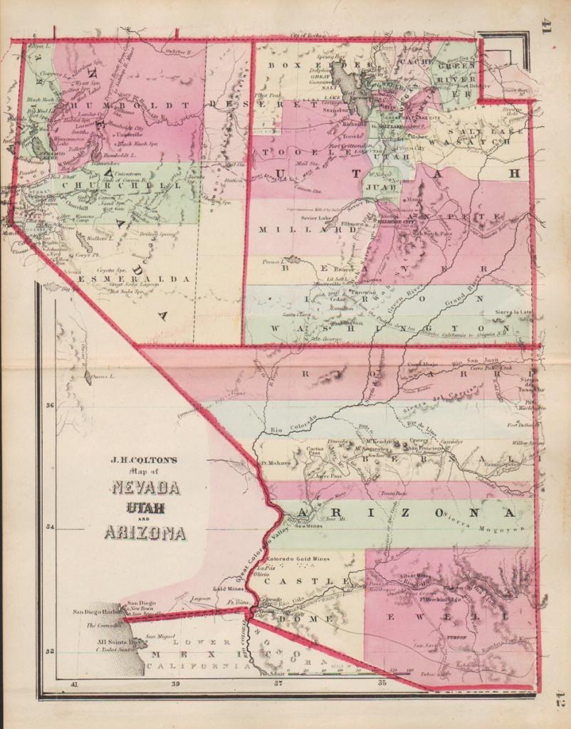 Map Of California And Nevada And Arizona And Travel Information - Road Map Of California Nevada And Arizona