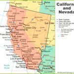 Map Of California And Nevada   Map Of California And Nevada