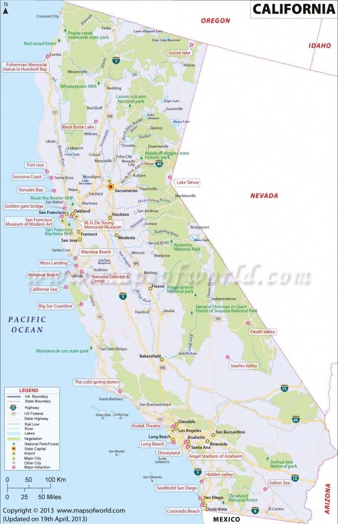 Map Of California Coast Usa – Map Of Usa District - Interactive Map Of California