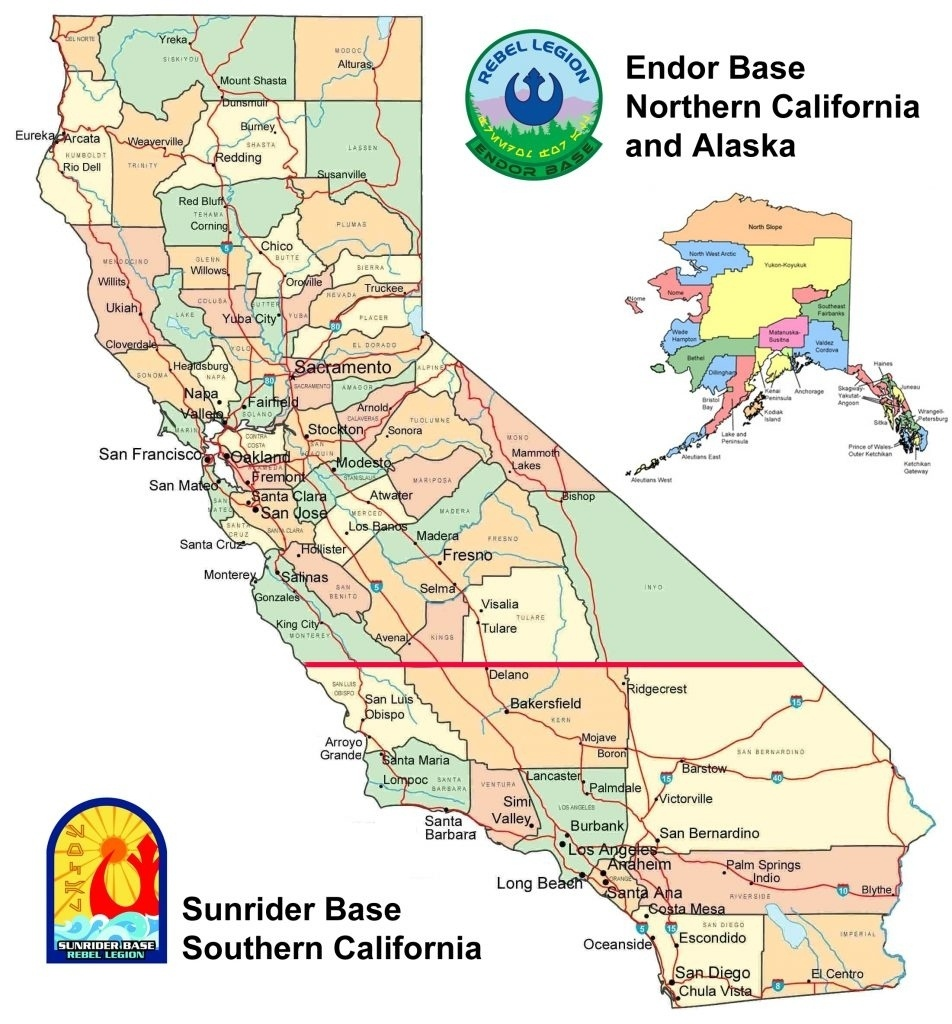 Map Of California. Map Of Central And Northern California Within Map - Map Of Central California