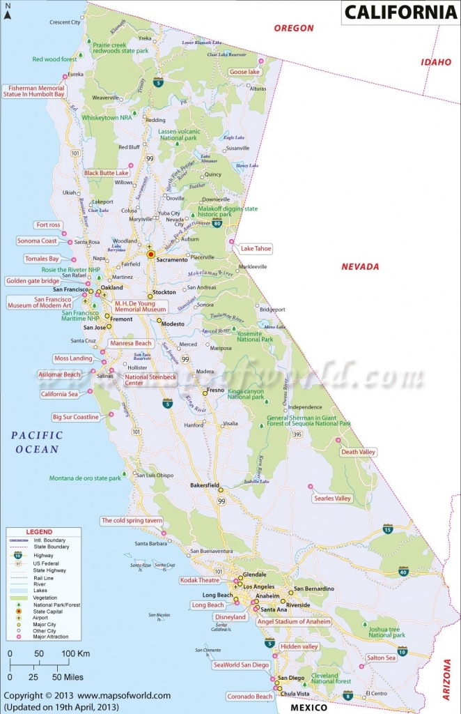 Map Of California. Map Of Central California Coastal Cities - Map Of California Coast Cities