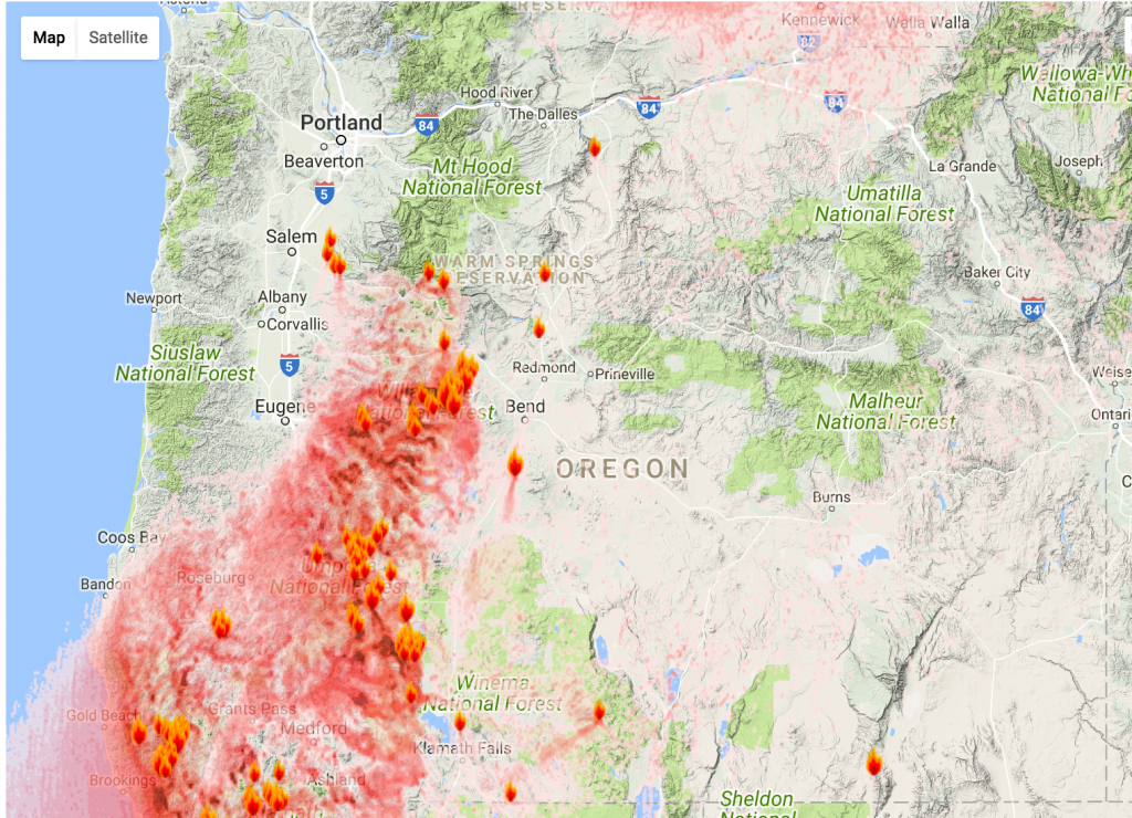 Map Of California Oregon Fires | Download Them And Print - California Oregon Fire Map