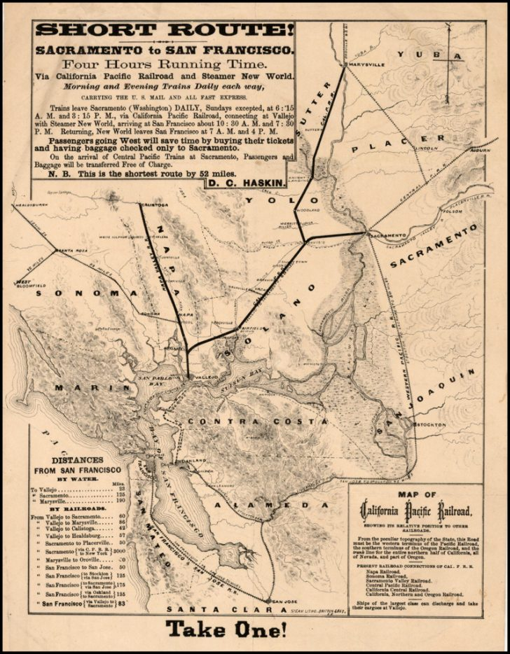 California Railroad Map