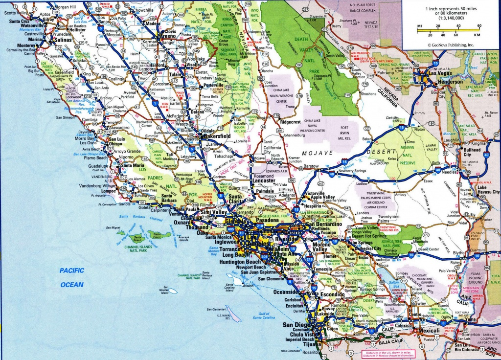 Map Of California Roads And Travel Information | Download Free Map - California Road Map Free