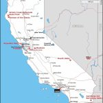 Map Of California Showing The Shooting Location And Other Important - California Destinations Map