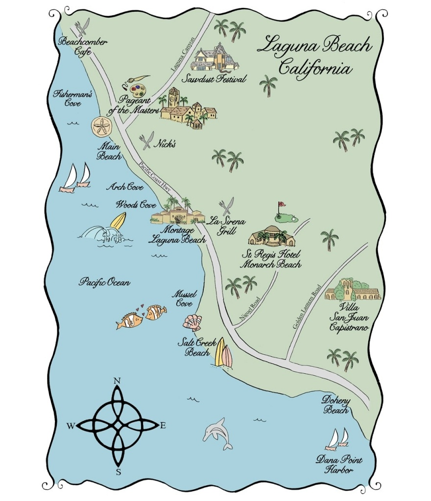 Map Of California Springs Laguna Beach 3 | Safehandsit Within Map Of - Laguna Beach California Map