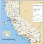 Map Of California State, Usa - Nations Online Project - Map Of California And Mexico Coast