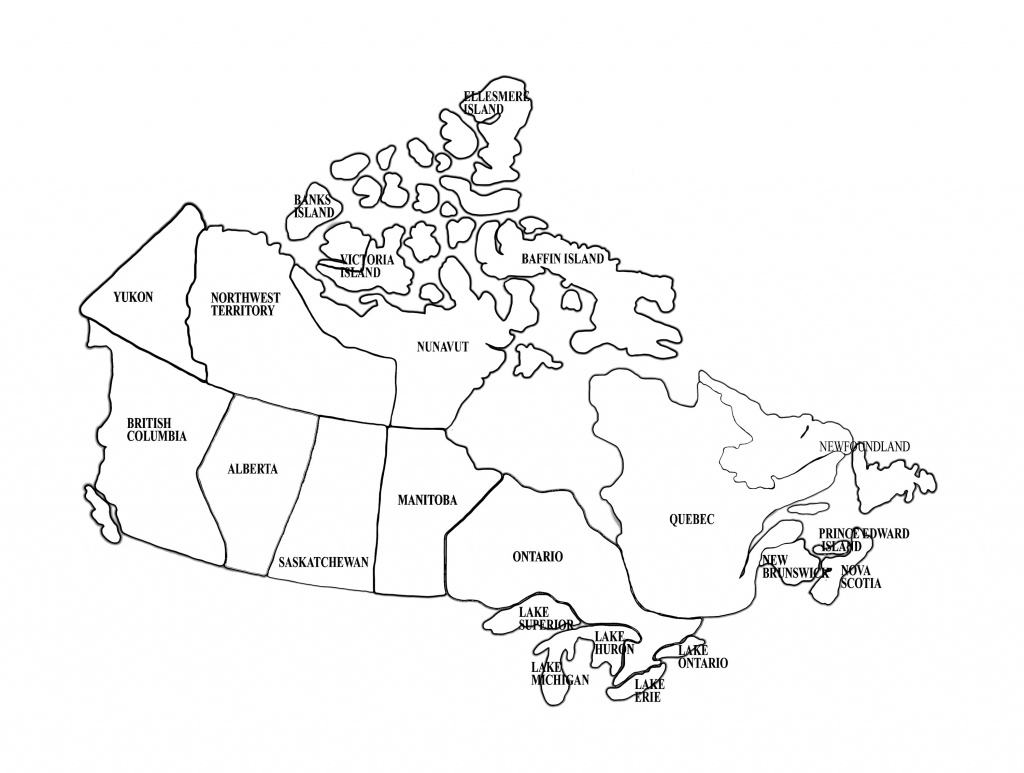 Map Of Canada | Homeschool | Canada For Kids, Map, Maps For Kids - Map Of Canada Black And White Printable