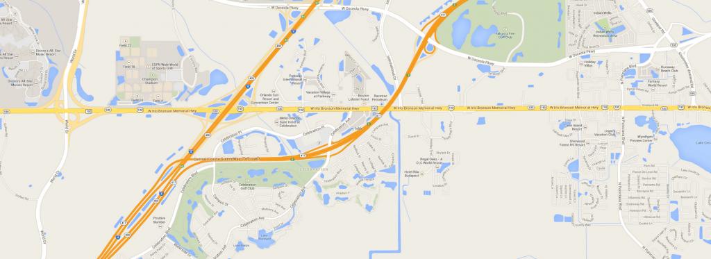 Map Of Celebration, Fl - R.o. Anderson Engineering, Inc - Celebration Florida Map