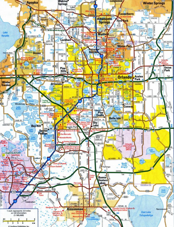 Road Map Of Orlando Florida