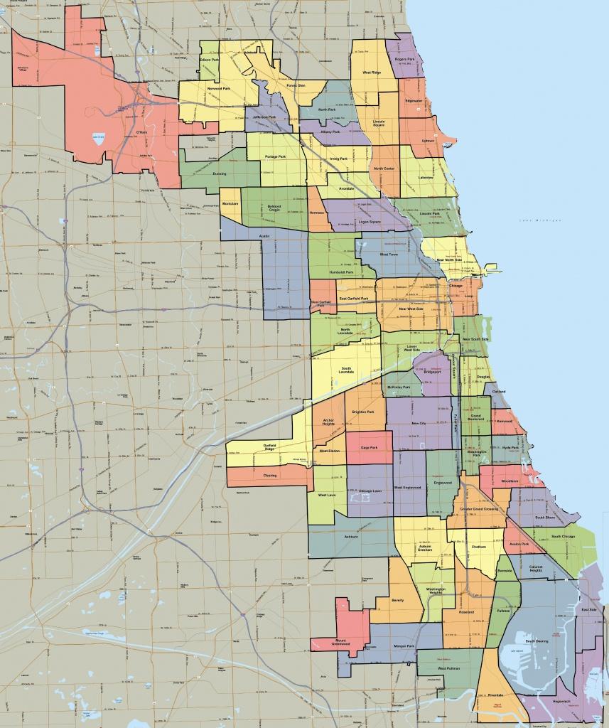 Map Of Chicago Area Neighborhoods | D1Softball - Printable Map Of Chicago Suburbs