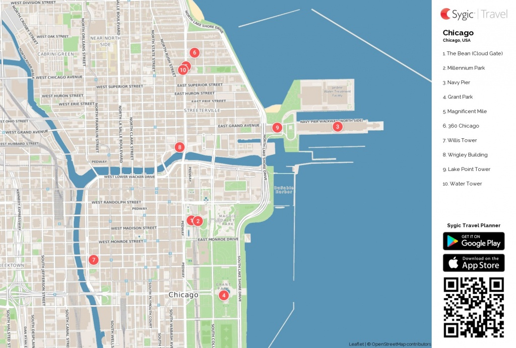 Map Of Chicago Printable Tourist 87318 Png Filetype | D1Softball - Printable Map Of Chicago