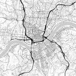 Map Of Cincinnati, Ohio | Hebstreits Sketches   Printable Cincinnati Map