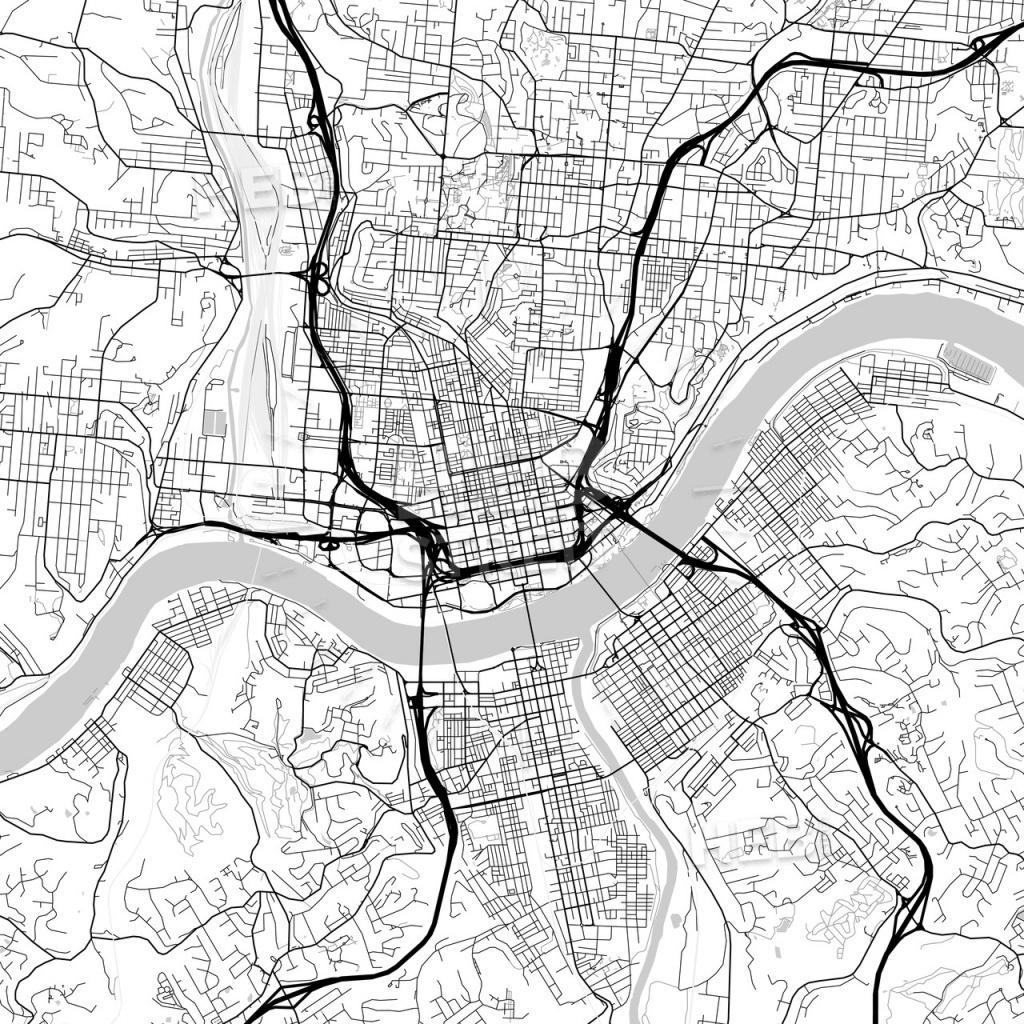 Map Of Cincinnati, Ohio | Hebstreits Sketches - Printable Cincinnati Map