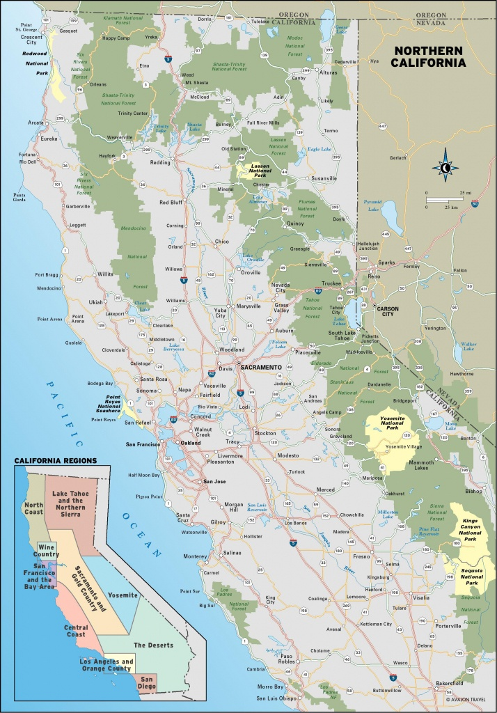 Map Of Coast Of California And Travel Information   Download Free - Map Of Central And Northern California Coast