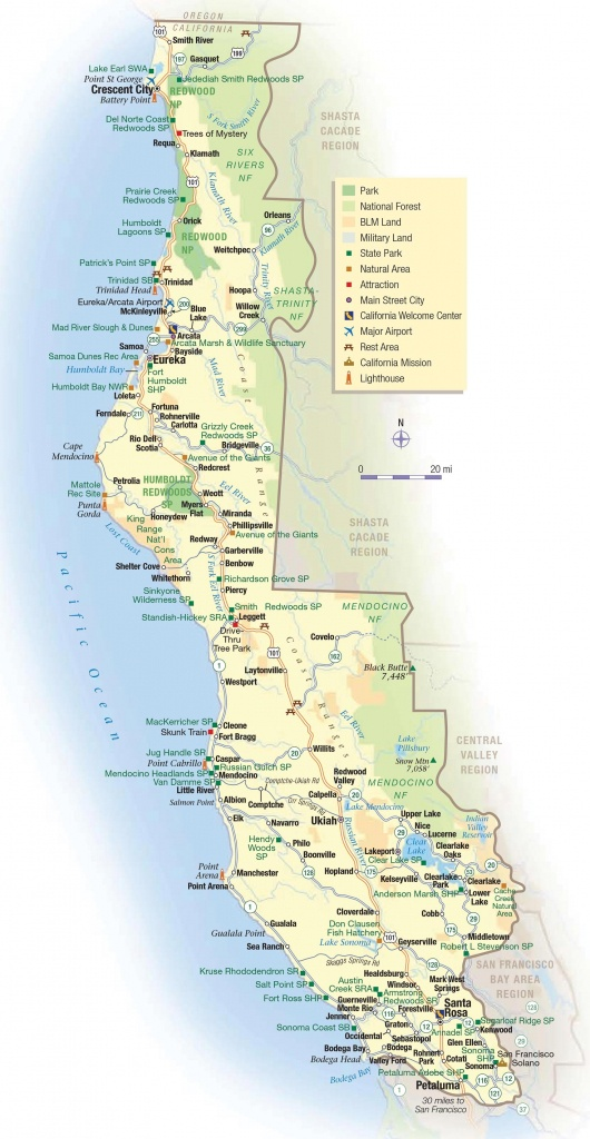 Map Of Coast Of California Beaches – Map Of Usa District - Northern California Beaches Map