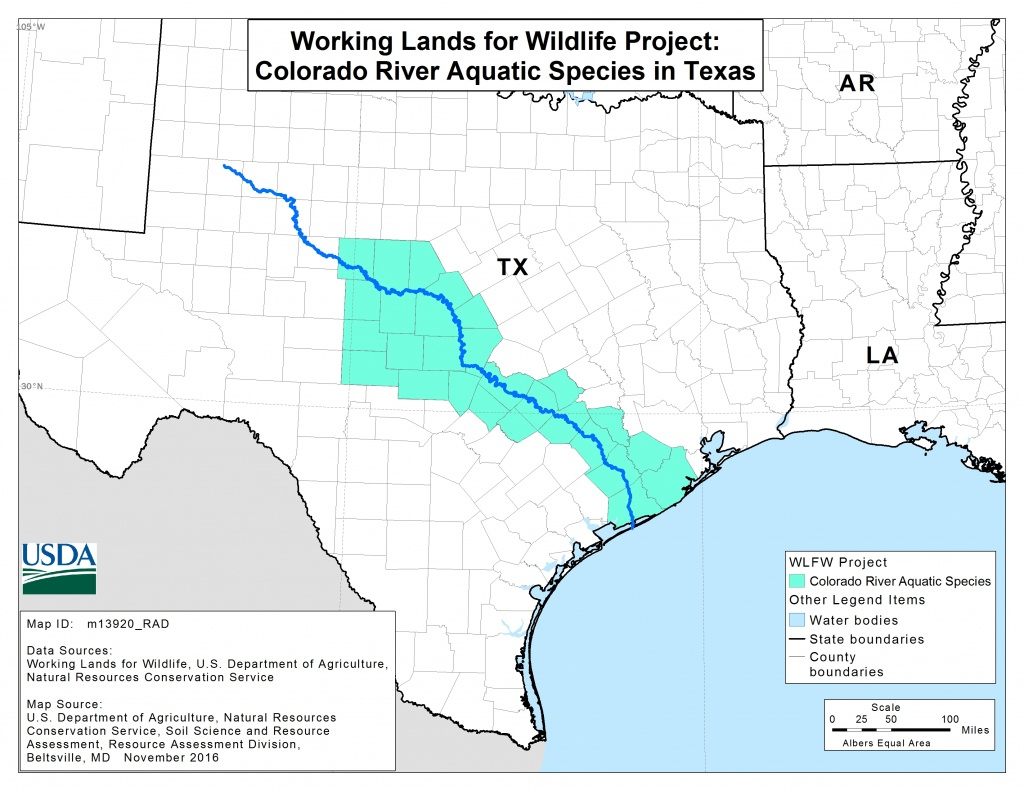 Map Of Colorado River In Texas   Download Them And Print - Colorado River Map Texas