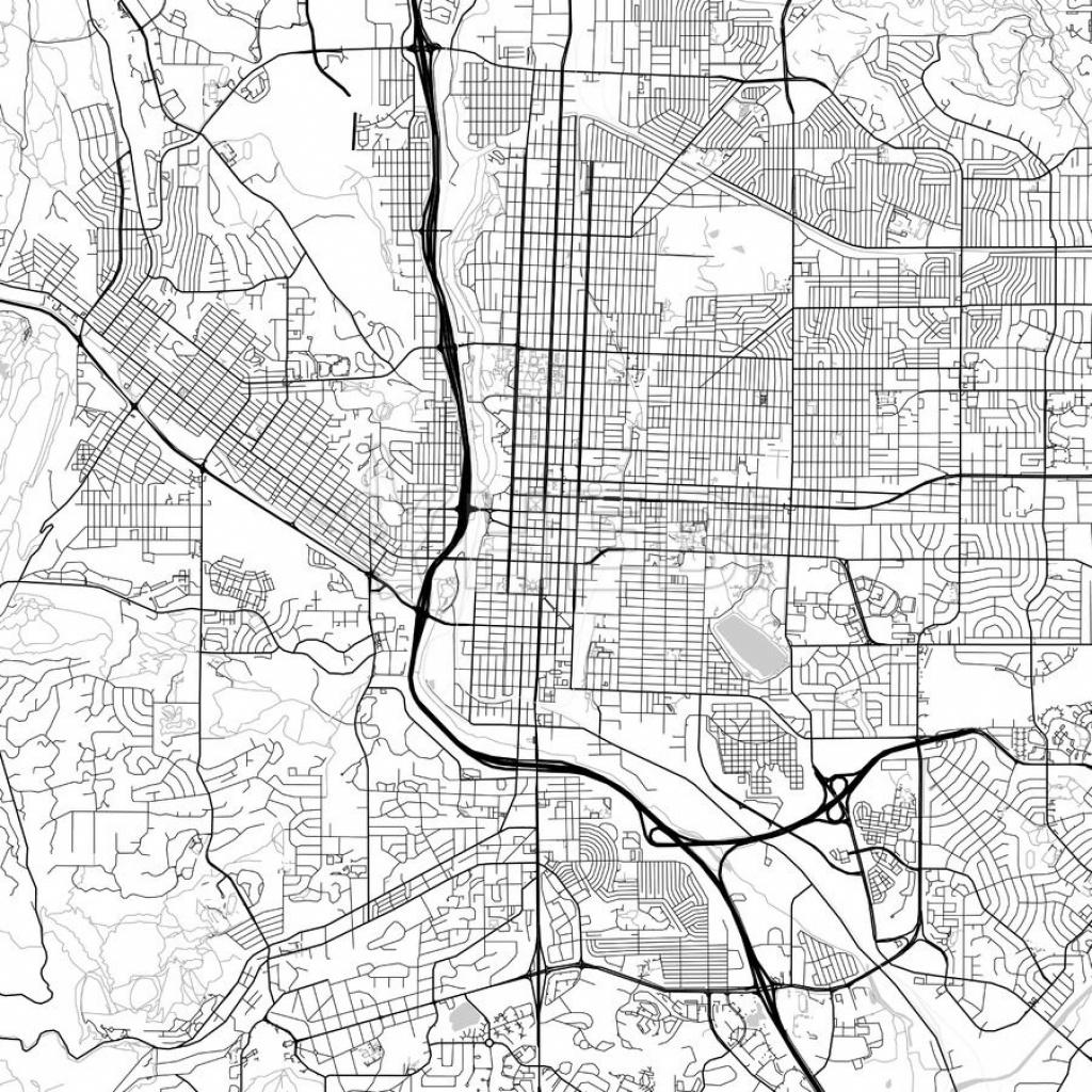 Map Of Colorado Springs, Colorado   Maps Vector Downloads - Printable Map Of Colorado Springs