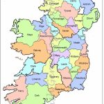 Map Of Counties In Ireland   This County Map Of Ireland Shows All 32 - Printable Map Of Ireland Counties And Towns