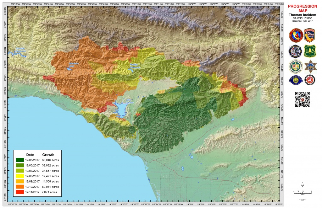 Map Of Current California Wildfires December 2017 | Download Them - Map Of Current California Wildfires
