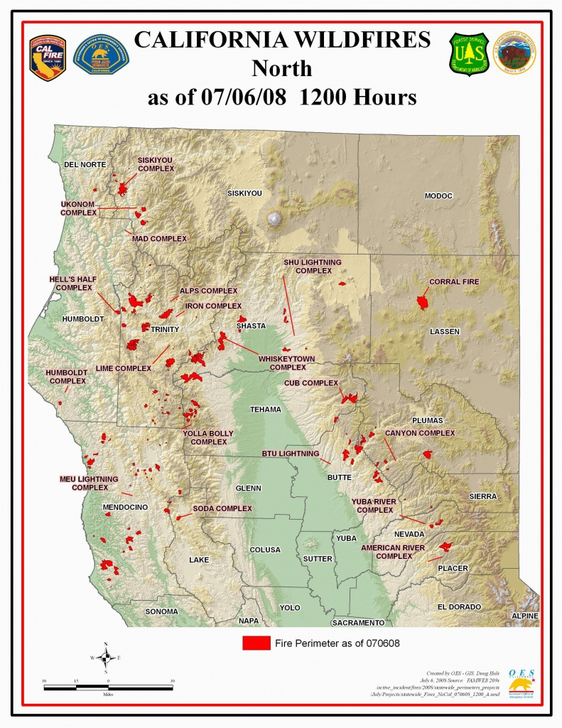 Map Of Current Fires In Northern California | Secretmuseum - Current Fire Map California