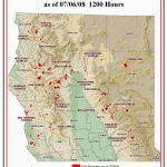 Map Of Current Fires In Northern California | Secretmuseum - Map Of California Wildfires Now
