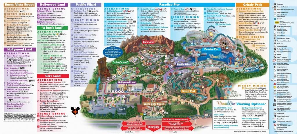 Map Of Disney California Adventure Park | Secretmuseum - Disney California Map