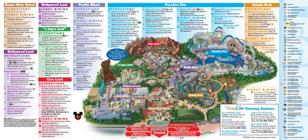 Map Of Disneyland And California Adventure 2017 | Download Them And - California Adventure Map 2017
