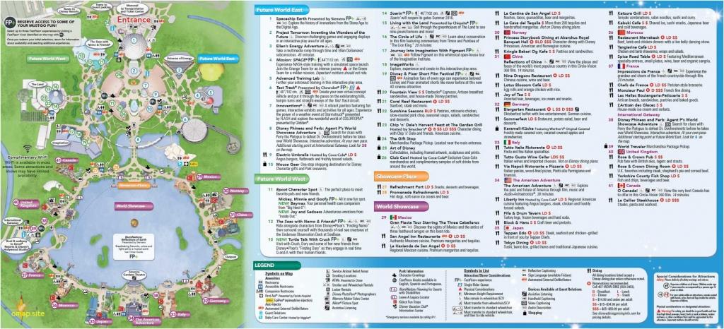 Map Of Disneyworld Park - Climatejourney - Epcot Park Map Printable