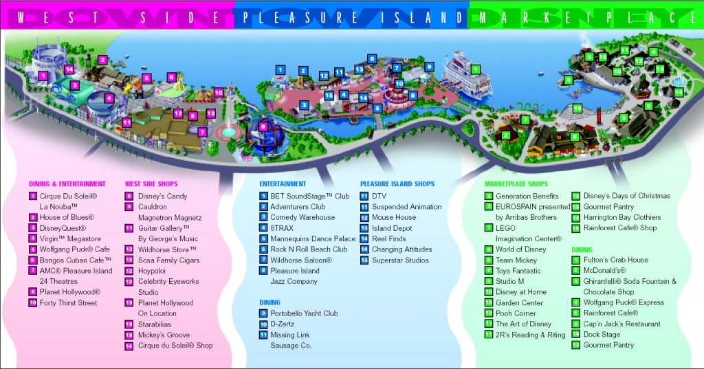 Map Of Downtown Disney And Pleasure Island----Site For Discount - Map Of Downtown Disney Orlando Florida