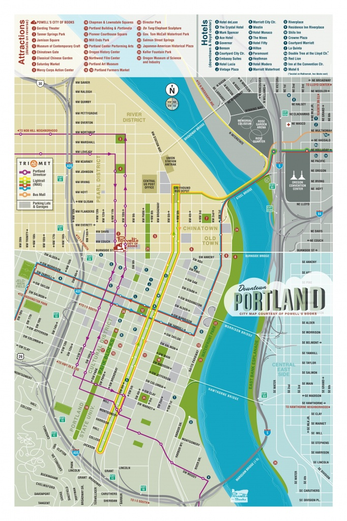 Map Of Downtown Portland - Courtesy Of Powell's Books | Maps In 2019 - Printable Missoula Map